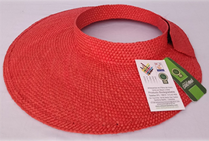 Visera color rojo
